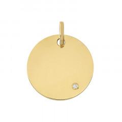 Medaille ronde Diamant Or jaune