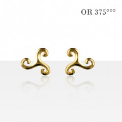 Boucles d'oreilles TRISKELL SIMPLE PM Or 375°°°