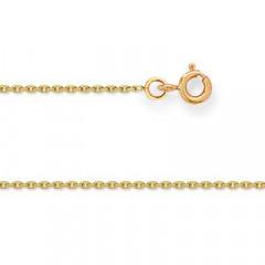 Chaine FORCAT Or 375°°° Diamantée 1MM - 45cm