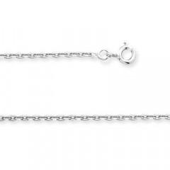 Chaine FORCAT Or blanc 375°°° Diamantée 1,2MM - 45cm