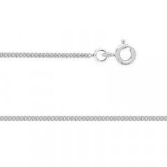 Chaine GOURMETTE Or blanc 375°°° 1 MM - 40cm