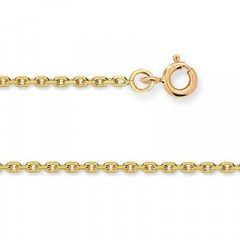 Chaine FORCAT Or 375°°° Diamantée 1,6MM - 50cm