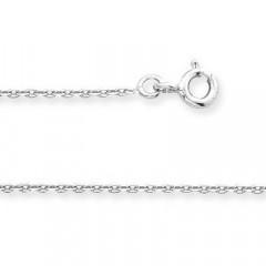 Chaine FORCAT Or blanc 375°°° Diamantée 1,6MM - 50cm