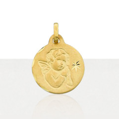 Médaille bapteme Or 375°°° ANGE & ETOILE