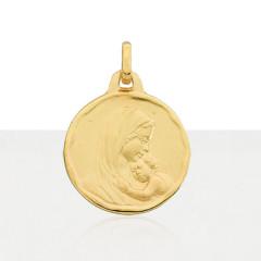 Médaille VIERGE A L'ENFANT Or 375°°° MARTELE