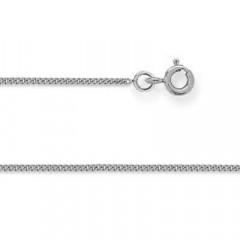 Chaine GOURMETTE Or blanc 375°°° 0,8 MM - 40cm