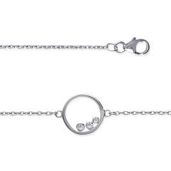 Bracelet Argent CERCLE 3 OXYDES