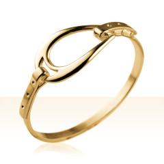 Bracelet Plaqué Or JONC ETRIER FER
