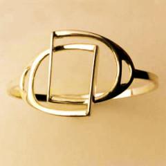 Bracelet Plaqué Or JONC ETRIERS ENTRELACES GM