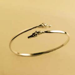 Bracelet Plaqué Or JONC TETES DE CHEVAUX