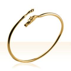 Bracelet Plaqué Or JONC TETE/SABOT CH