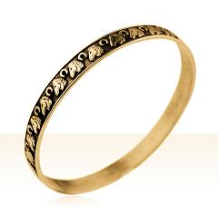 Bracelet Plaqué Or JONC MM TETE