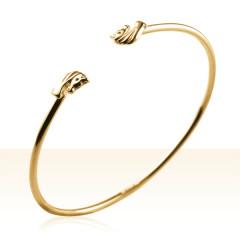 Bracelet Plaqué Or JONC MINI TETE