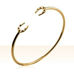 Bracelet Plaqué Or JONC FER A CHEVAL