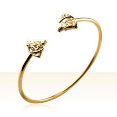 Bracelet Plaqué Or JONC TETE CHEVAL BRIDE