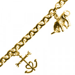 Bracelet Plaqué Or 3 BREL CAMARGUE GM
