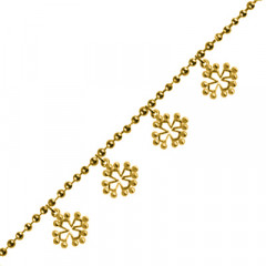 Bracelet Plaqué Or 5 BREL CROIX OCCIT PM