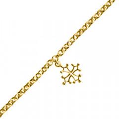 Bracelet Plaqué Or FR60 1 Pamp CROIX OCCIT MM