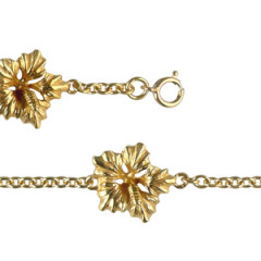 Bracelet Plaqué Or 3 HIBISCUS GM