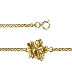 Bracelet Plaqué Or 1 HIBISCUS GM