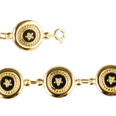Bracelet Plaqué Or CREOLE ONYX/EM-PM