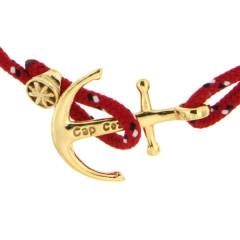 Bracelet Plaqué Or Ancre CAP COZ - rouge