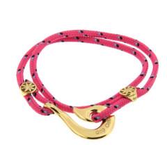 Bracelet Plaqué Or Hameçon Maori CAP COZ double - rose