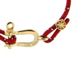 Bracelet Paqué Or Manille CAP COZ - rouge