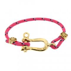 Bracelet Paqué Or Manille CAP COZ - rose