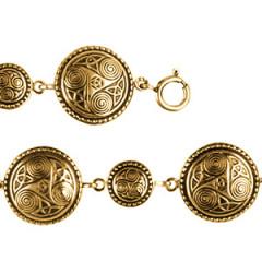 Bracelet Plaqué Or TRISKELL ROND PERLE 1/1