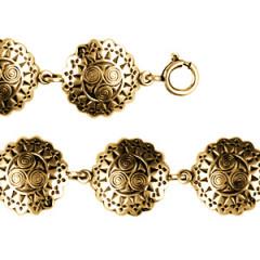 Bracelet Plaqué Or TRISKELL ENTOURAGE HERMINE