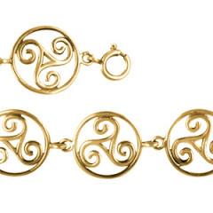 Bracelet Plaqué Or TRISKELL ENTOURAGE FIL ROND