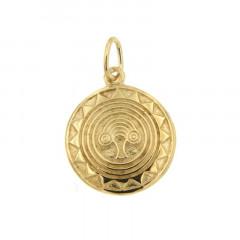 Médaille Plaqué Or HIBOU