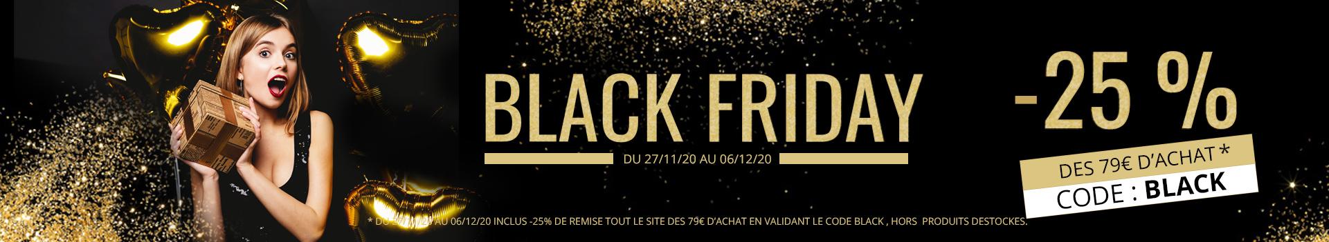 BLACK FRIDAY BIJOUX ! -25% dès 79€ d'achats hors catégorie destockage