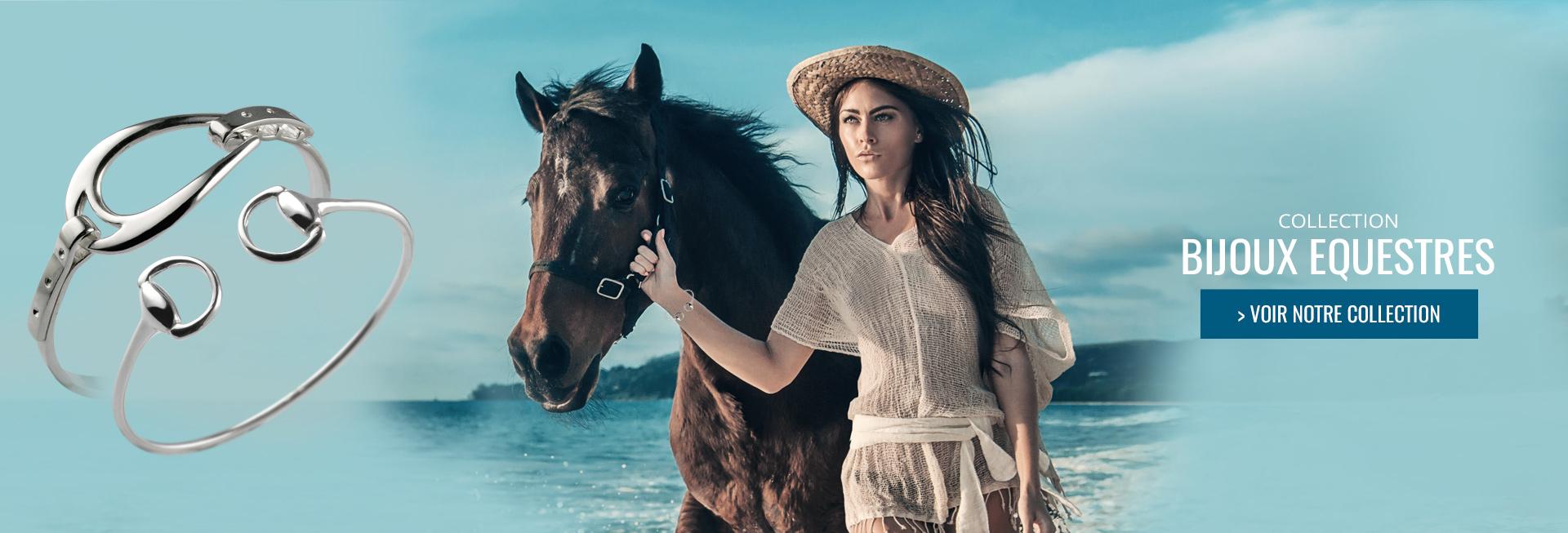 Bijoux equestres en Argent : bracelet cheval, pendentif cheval, bijoux mors