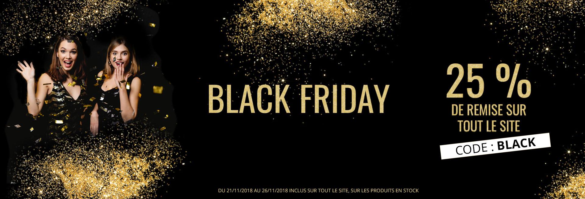 BLACK FRIDAY ! 25% de remise sur TOUT le site , on en profite pour craquer pour vos cadeaux de Noel : bijoux femme, bijoux enfant, bijoux ALL BLACKS