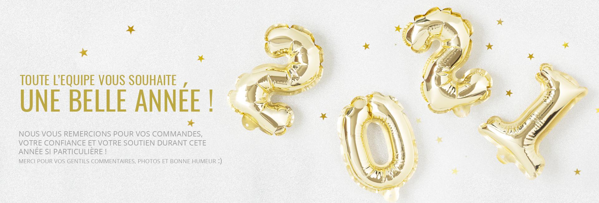 Toute l'équipe vous souhaite une belle année 2021, merci pour vos commandes de bijoux, votre bonne humeur et votre soutien !