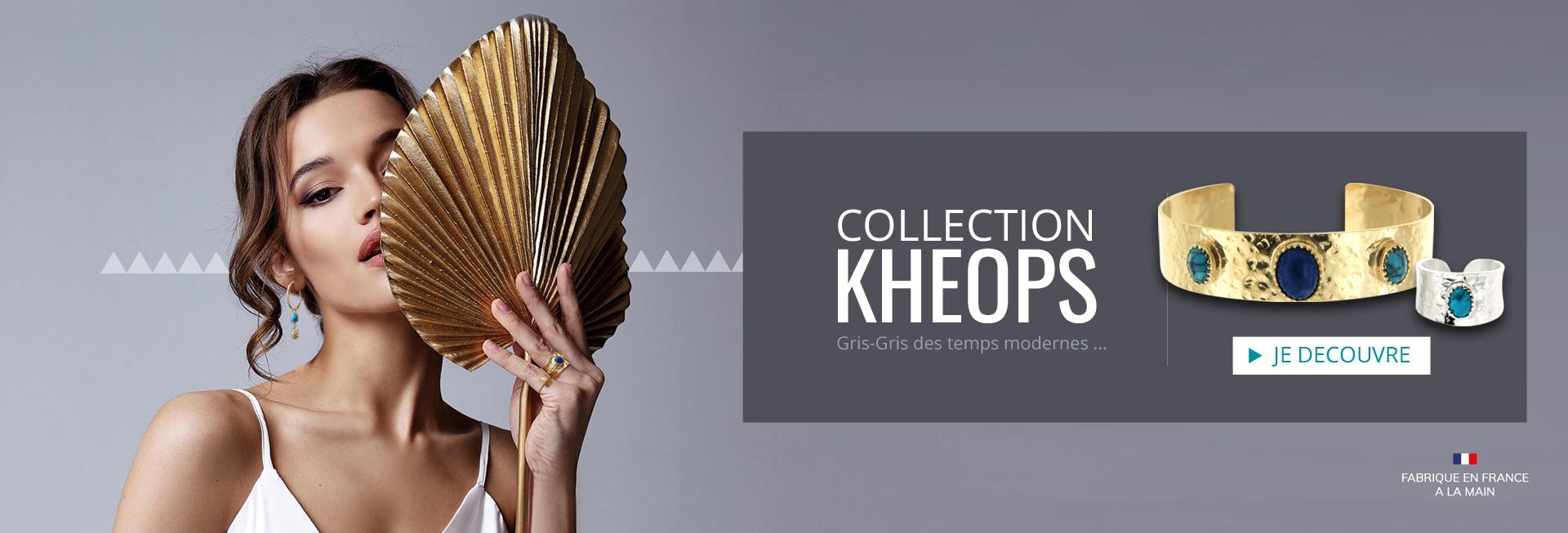 Collection Kheops, craquez pour ces bijoux Argent ou Plaqué Or, sertis à la main dans nos ateliers en France : bagues, bracelets, joncs, boucles d'oreilles... Laissez entrer le soleil dans vos vies...
