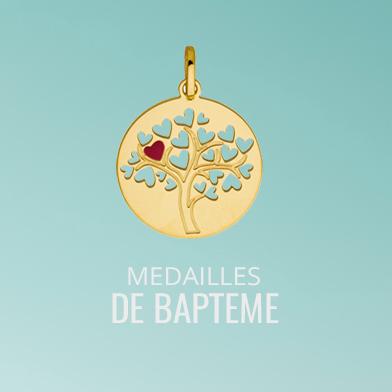 Découvrez un large choix de medaille bapteme en Or : medaille arbre de vie, medaille ange, colombe ...